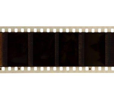 Film negative frames isolated on white background