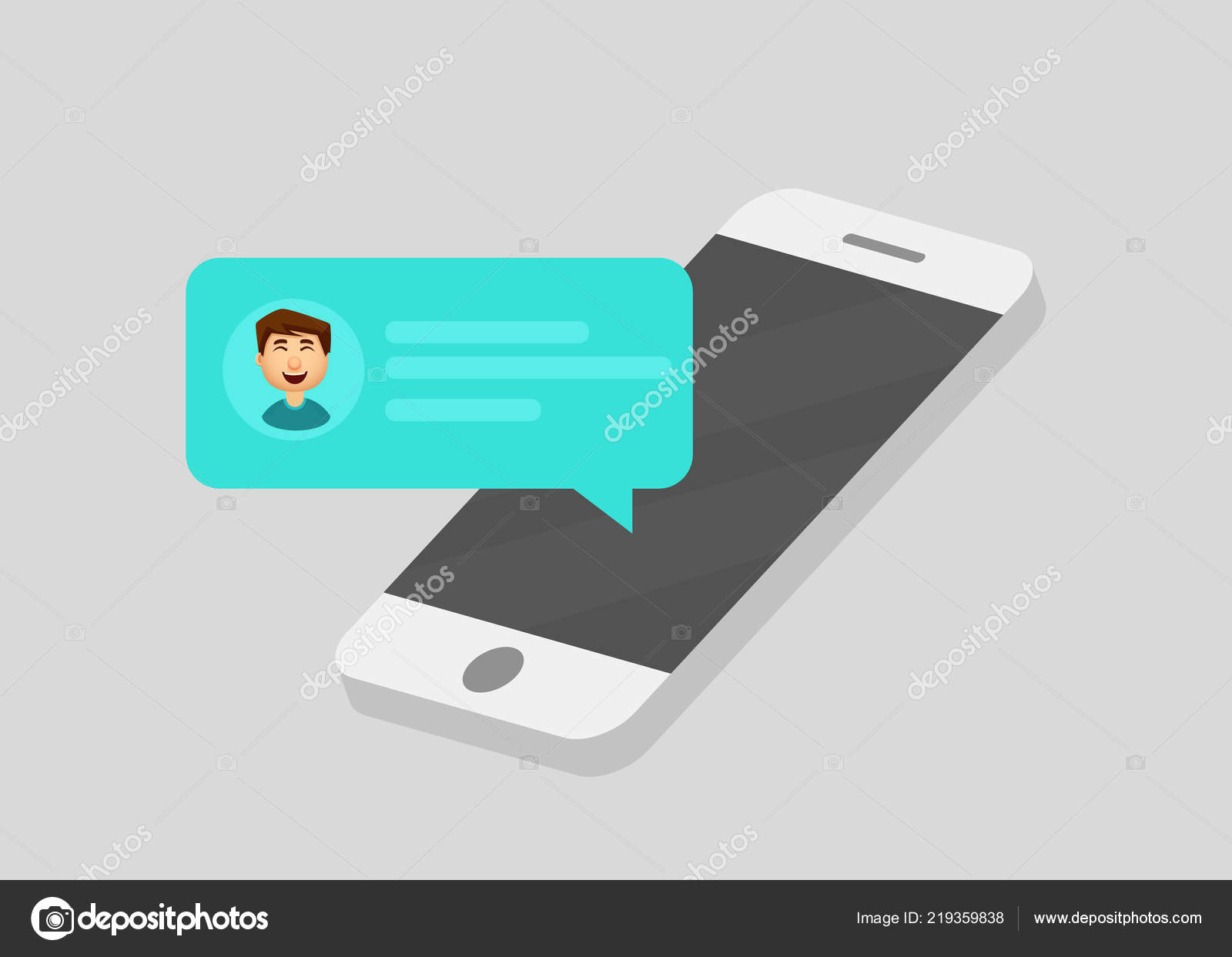 Mobile phone chat message notifications  Chatting bubble
