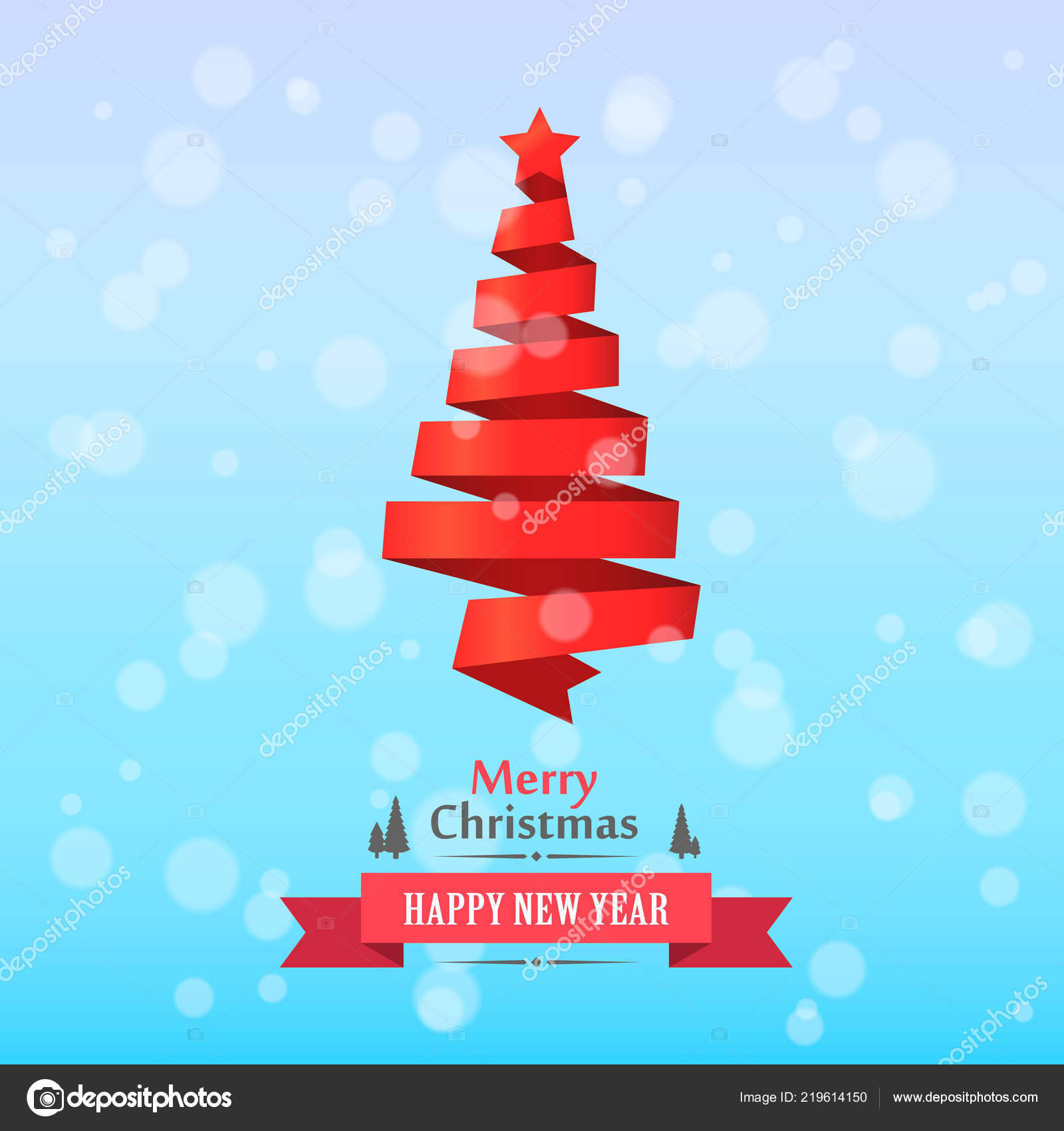 Frohe Weihnachten Band.Frohe Weihnachten Band Baum Deckblatt Stockvektor Hobbit Art