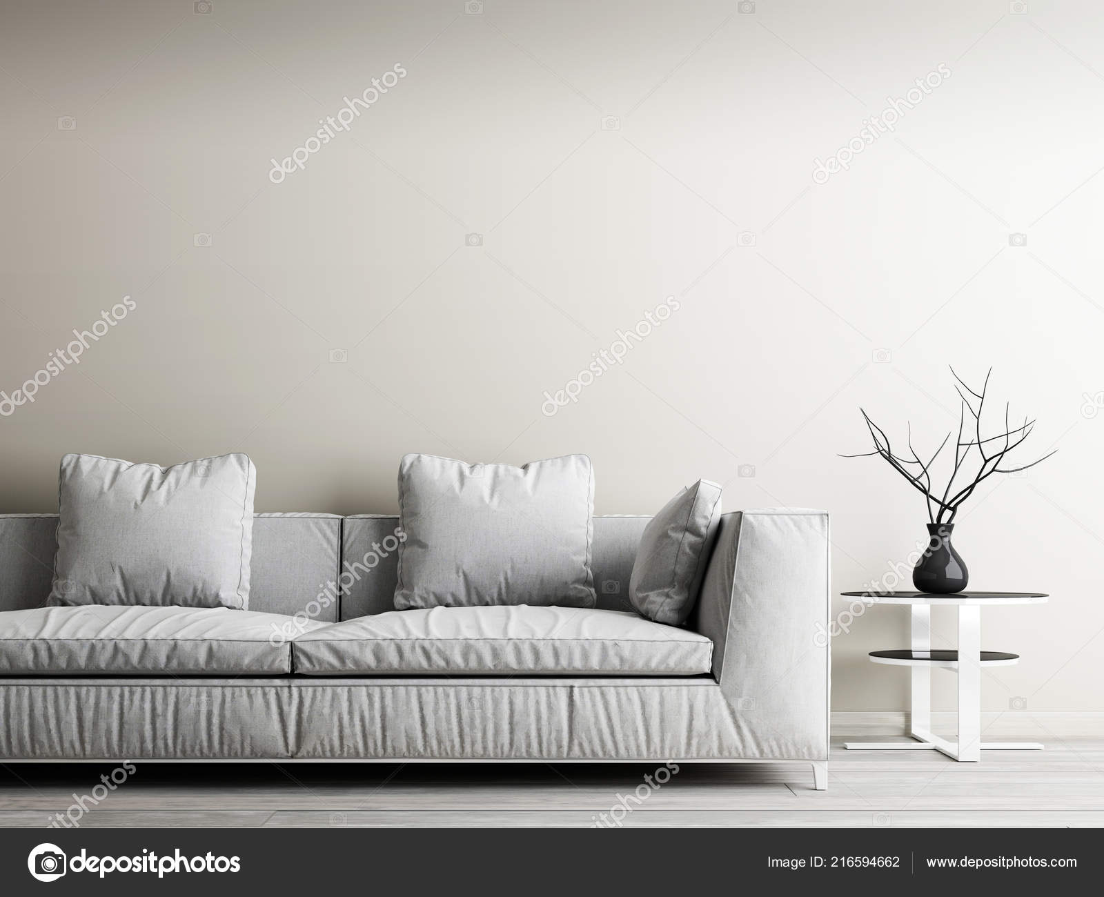 Moderne Interieur Van Woonkamer Home Decor Concept Witte Bank Tafel Stockfoto C Kuprin33 216594662