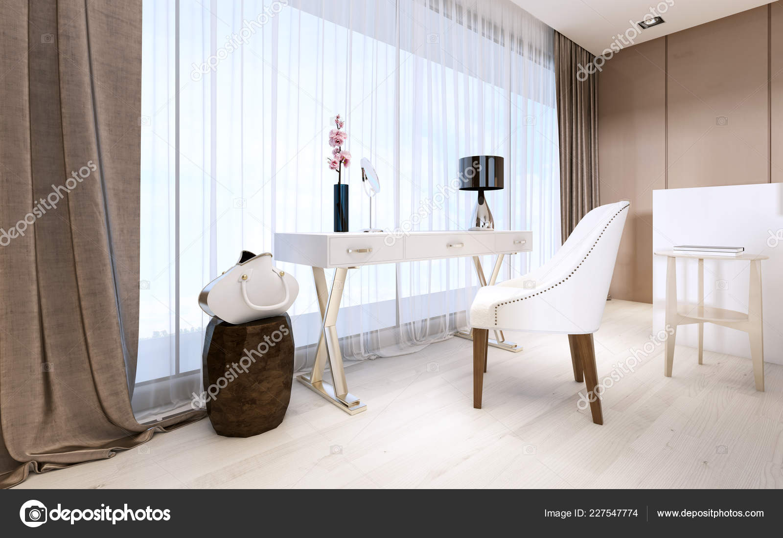 Modern Dressing Table Decor Luxurious Bedroom Rendering Stock Photo Image By C Kuprin33 227547774