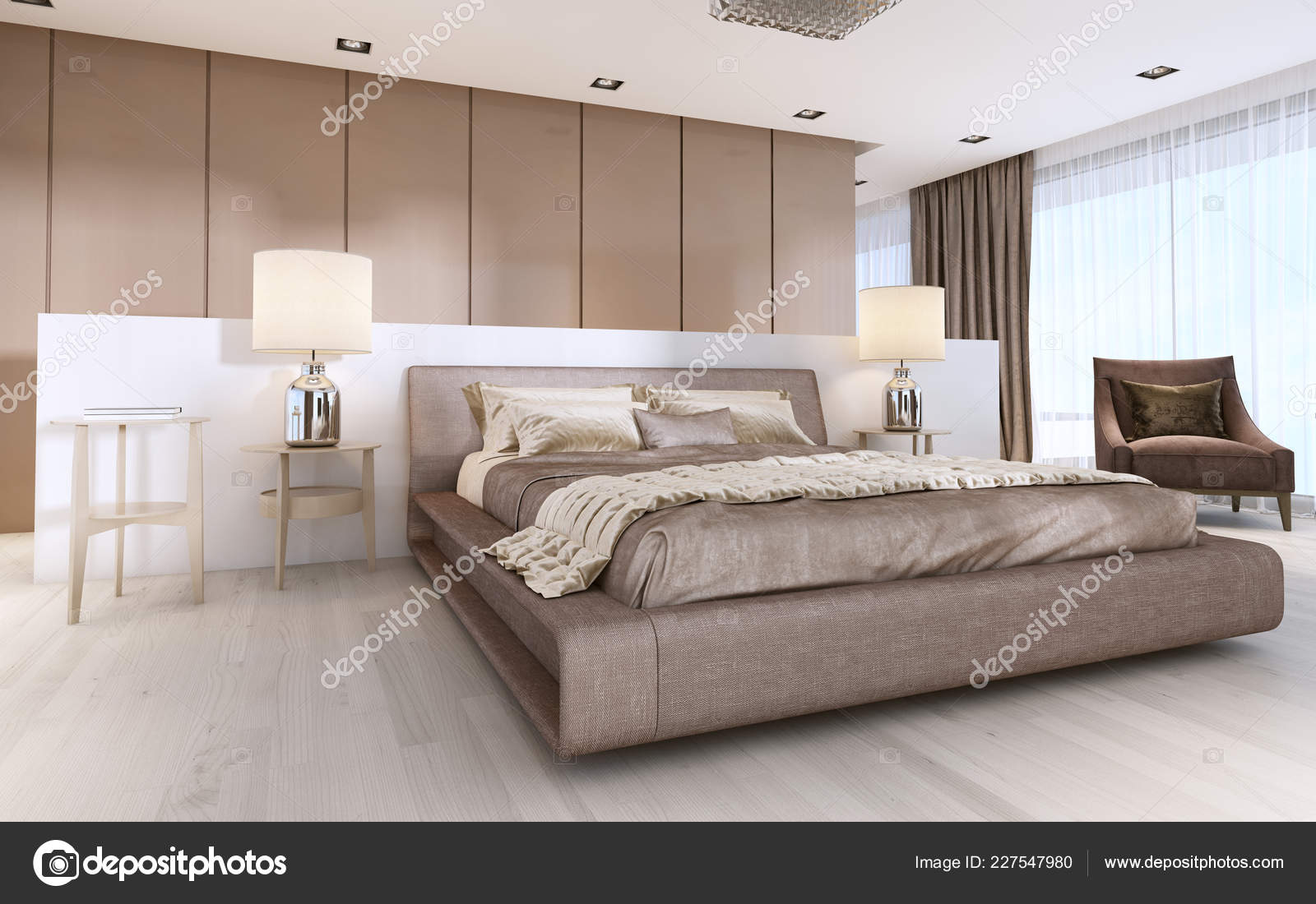 Luxurious Modern Master Bedroom Light Colors Pastel Colors
