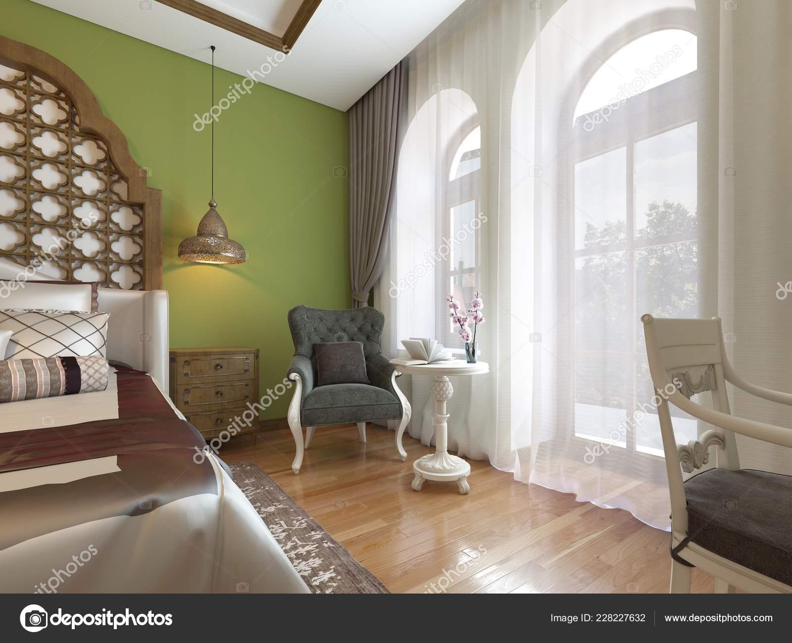 Camera Letto Orientale Stile Arabo Con Una Testiera Legno ...