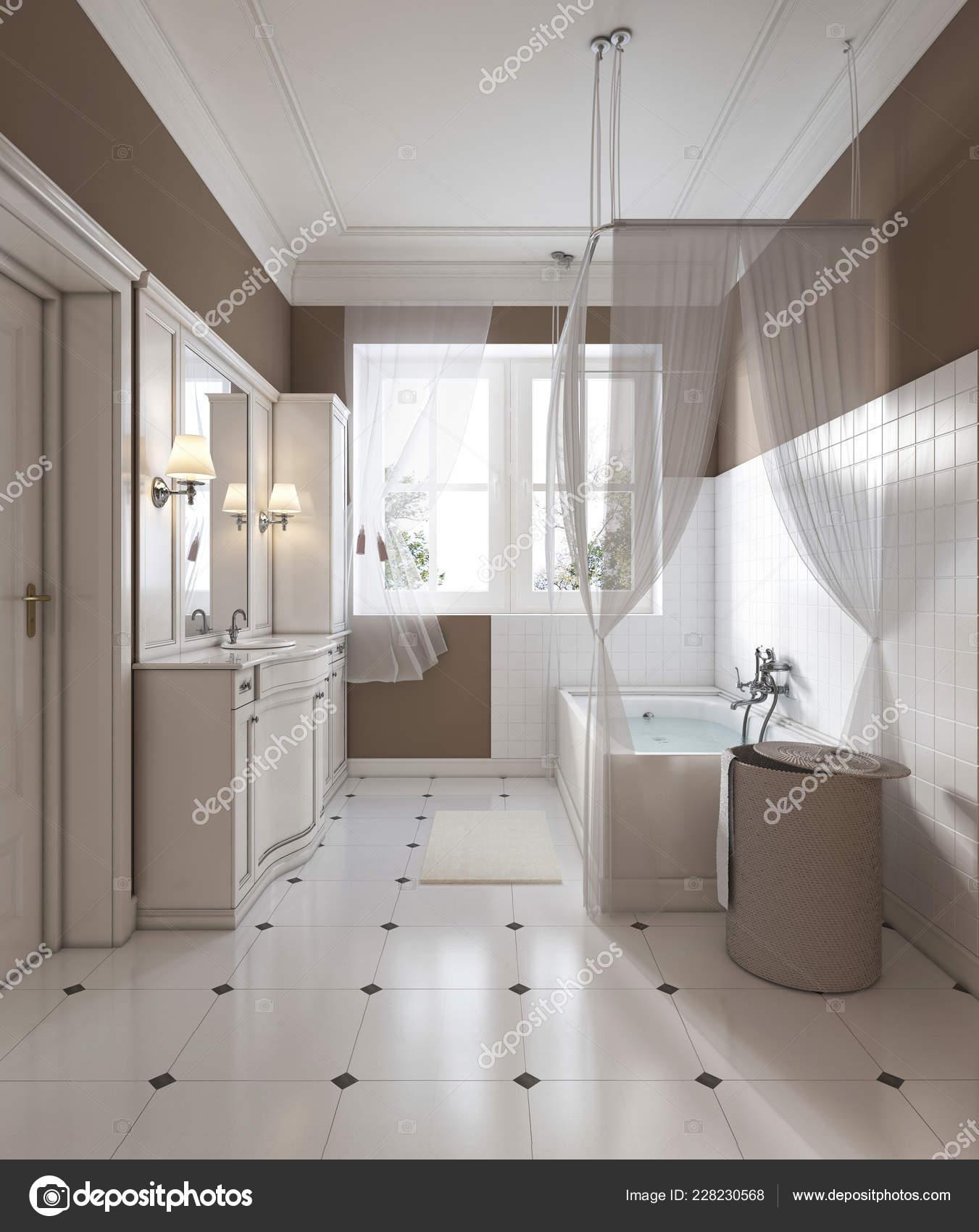 Arredo bagno stile classico vanit vasca bagno rendering for Arredo bagno stile classico