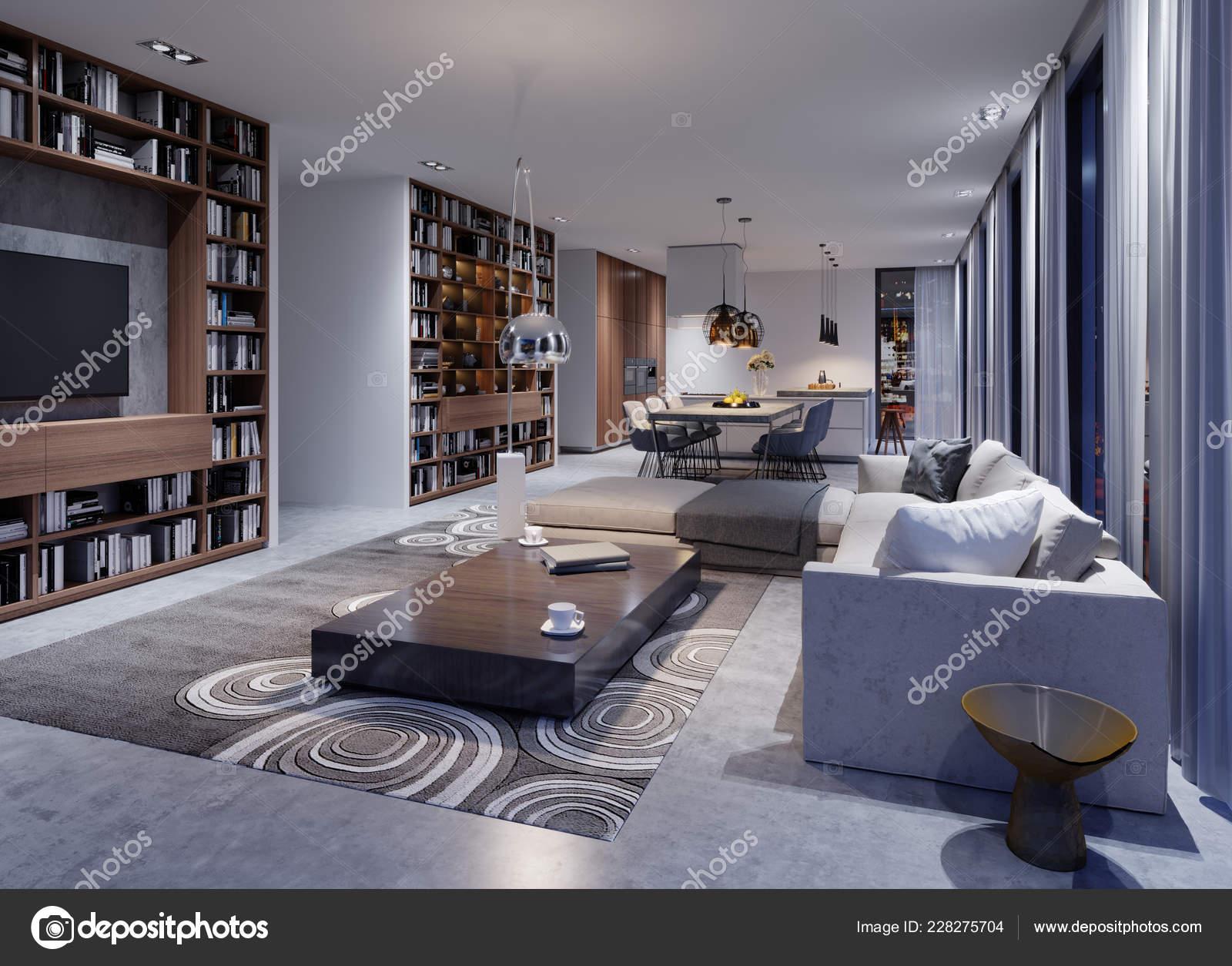 Cozy Modern Living Room Evening Corner Sofa Designer Armchairs ...