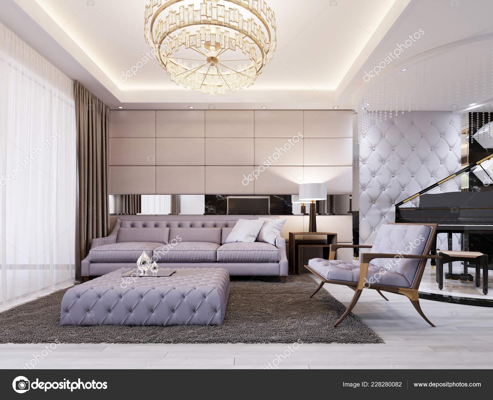 Modern Classic New Art Deco Living Room Interior Design