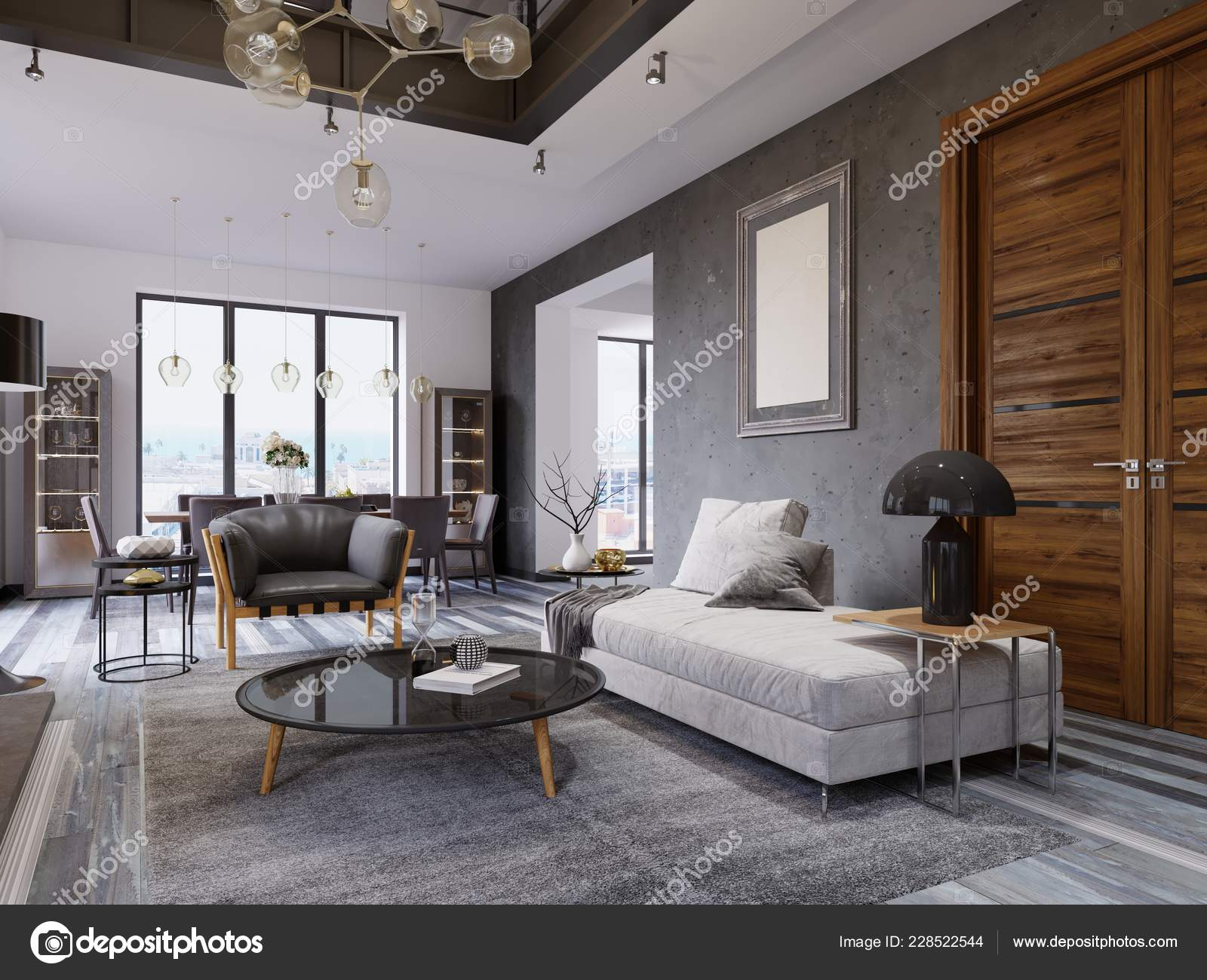 Luxury Duplex Loft Style Apartment Contemporary Furniture ...