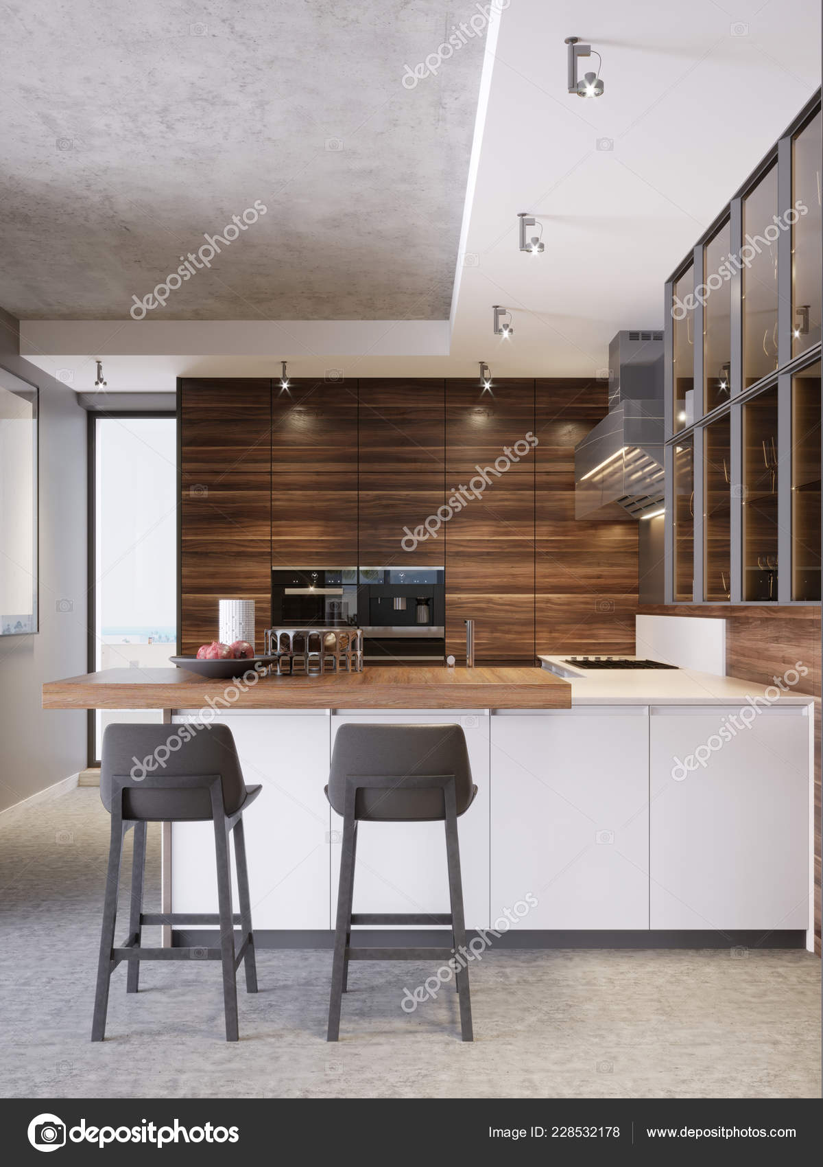 Contemporary Kitchen Modern Style Luxury Apartment Downtown