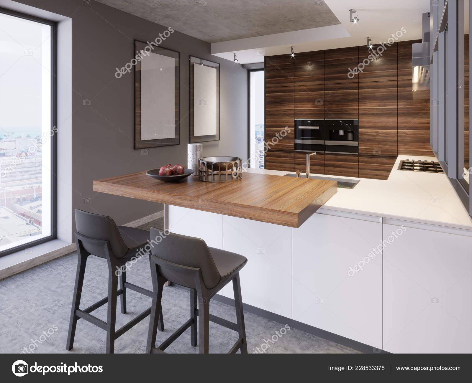Kitchen Kitchen Island Two Chairs Modern Kitchen Style