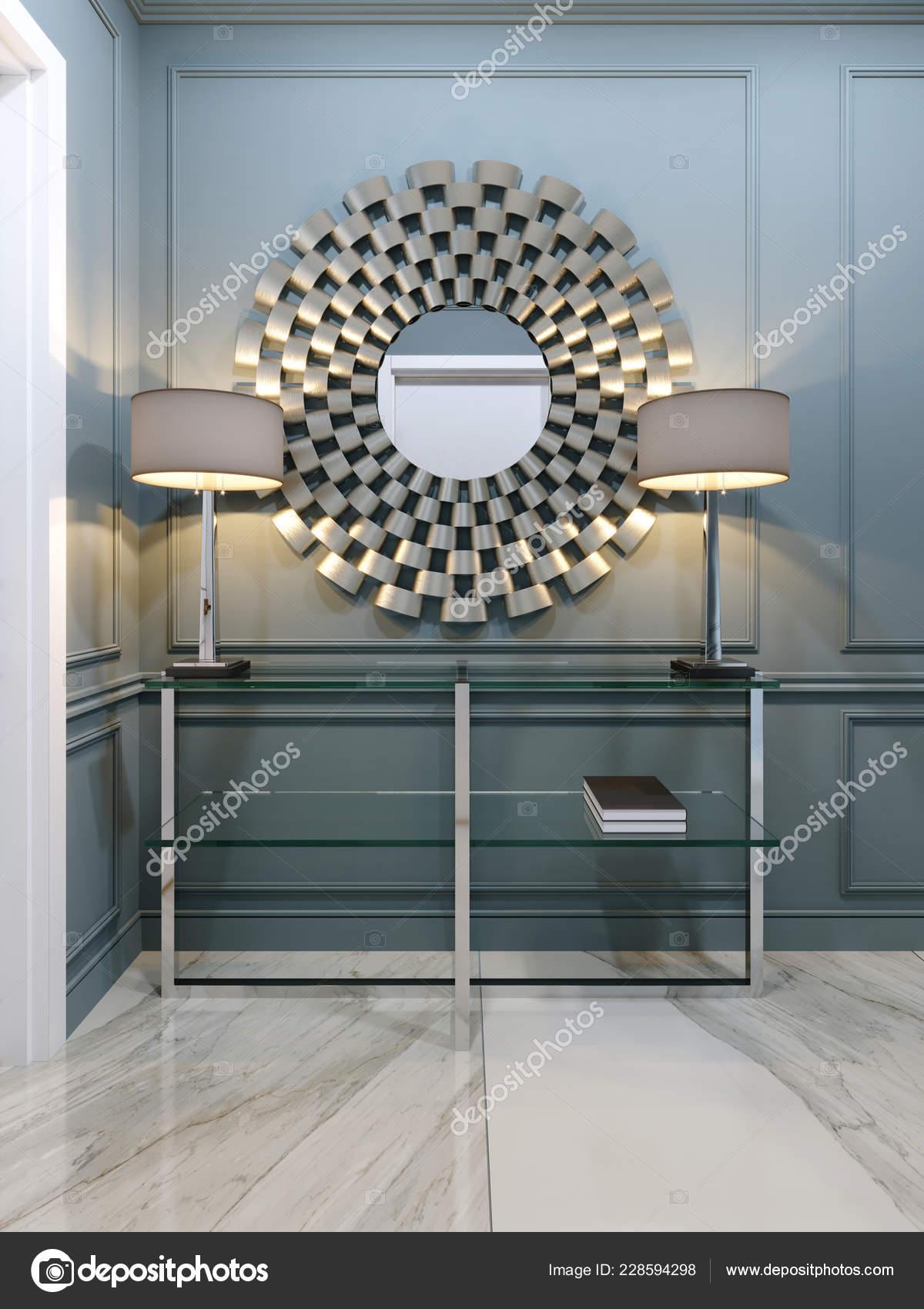 Corridoio appartamento con una consolle moderna metallo for Consolle moderna