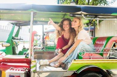 Tourists exploring Bangkok, Thailand