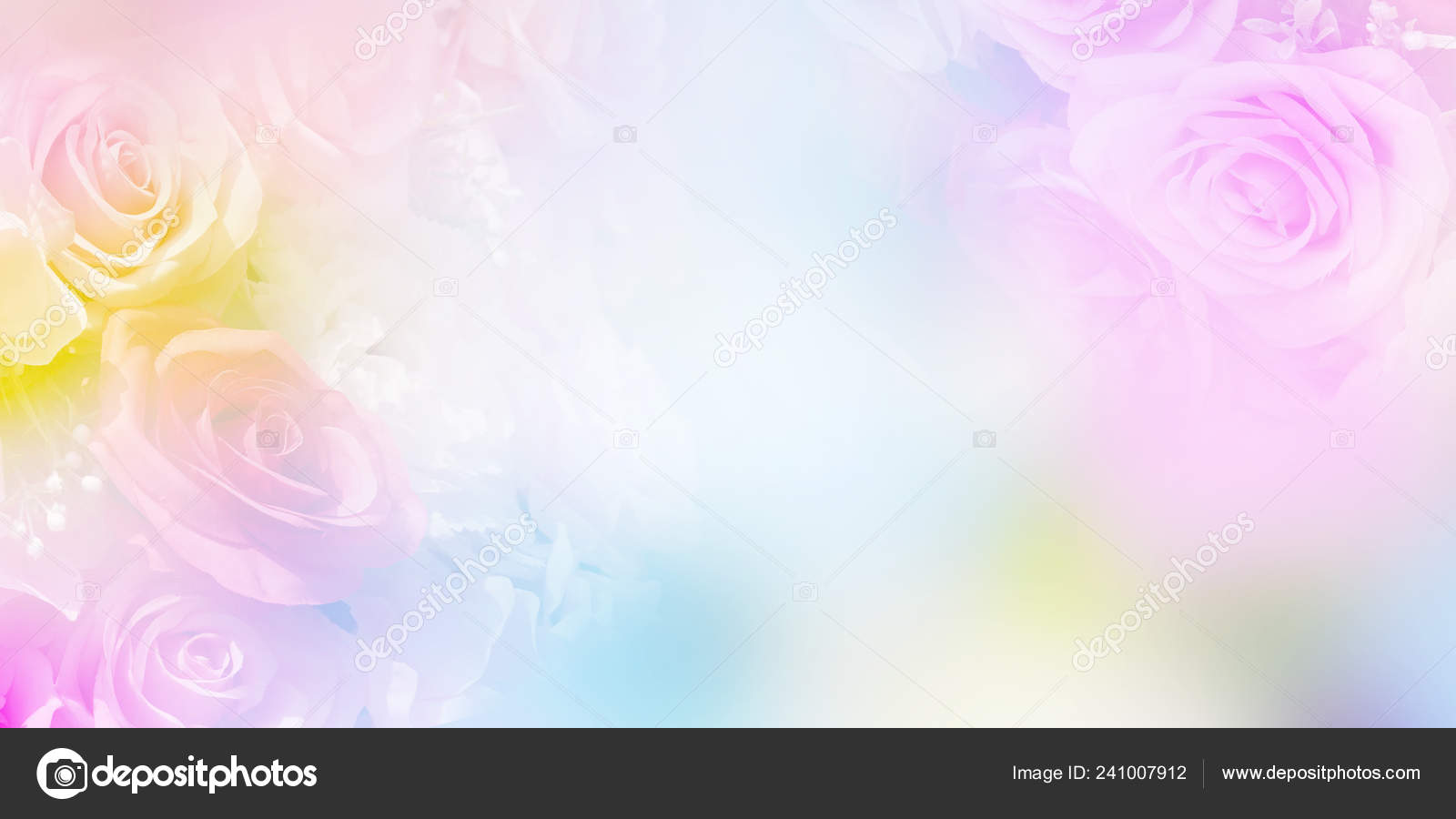 Floral Abstract Pastel Background Copy Space Pink Violet Roses Soft Stock Photo C P Kanchana 241007912