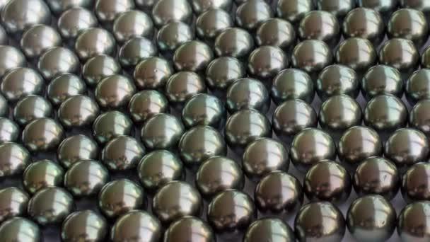 Slider shot of black south sea pearls.