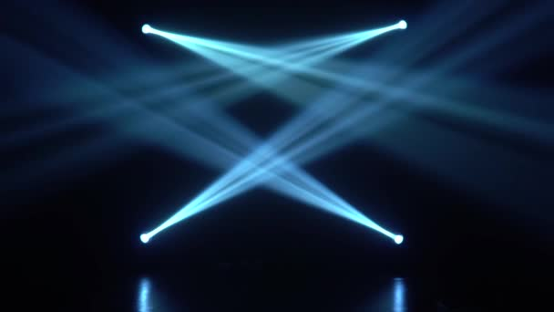 MXC se zvukem. Žlutá a modrá. Lesklé světla zapnutí a vypnutí