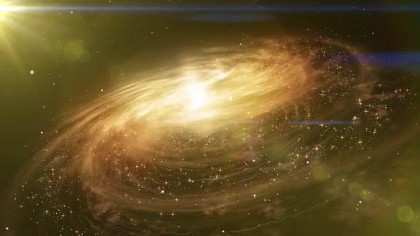 Cestování vesmírem poblíž velké galaxie