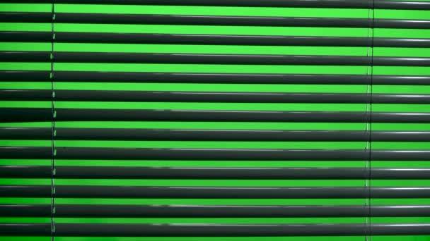 Jalousie nyissa meg és zárja be. Zöld képernyő