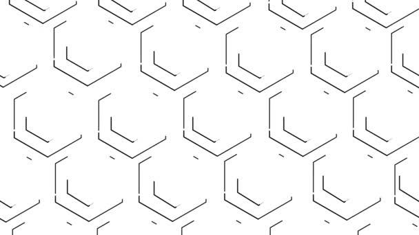 Doppelte Bienenwaben Sechsecke sind mit schwarzen Linien markiert. Weißem Hintergrund