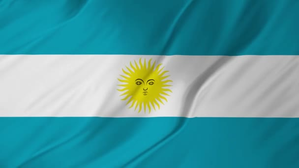 Argentina flag smooth blowing in the wind 2 in 1
