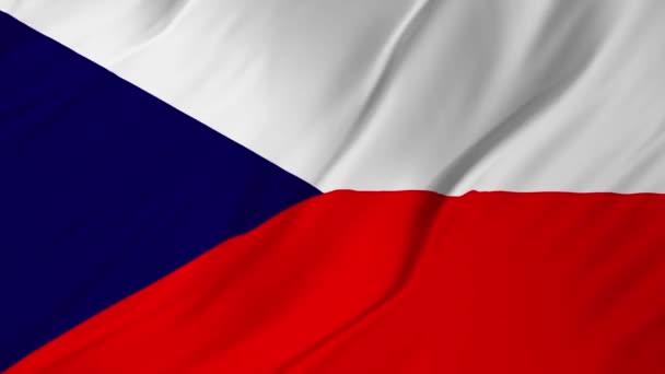 Vlajka českého mávat 2v1 vítr