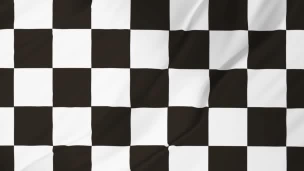 Animation karierte Flagge, die im Wind weht 2 in 1