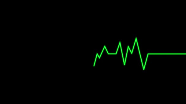 Animált szívmonitor EKG vonal