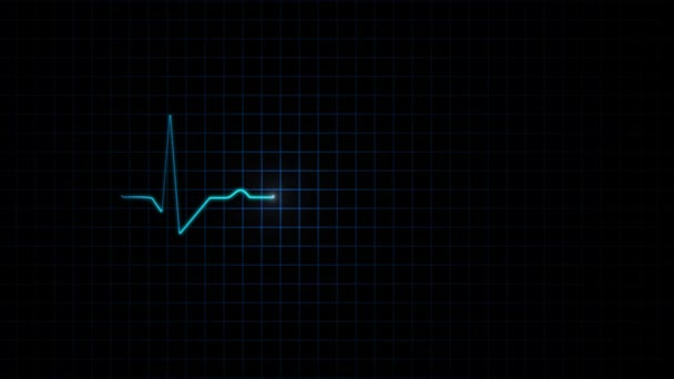Electrocardiogram animation heart pulse