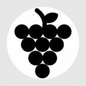 Photo grapes icon isolated on abstract backgroun