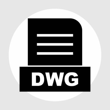 DWG  file Isolated On Abstract Background