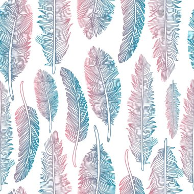 Feathers set illustration set on white background. clip art vector