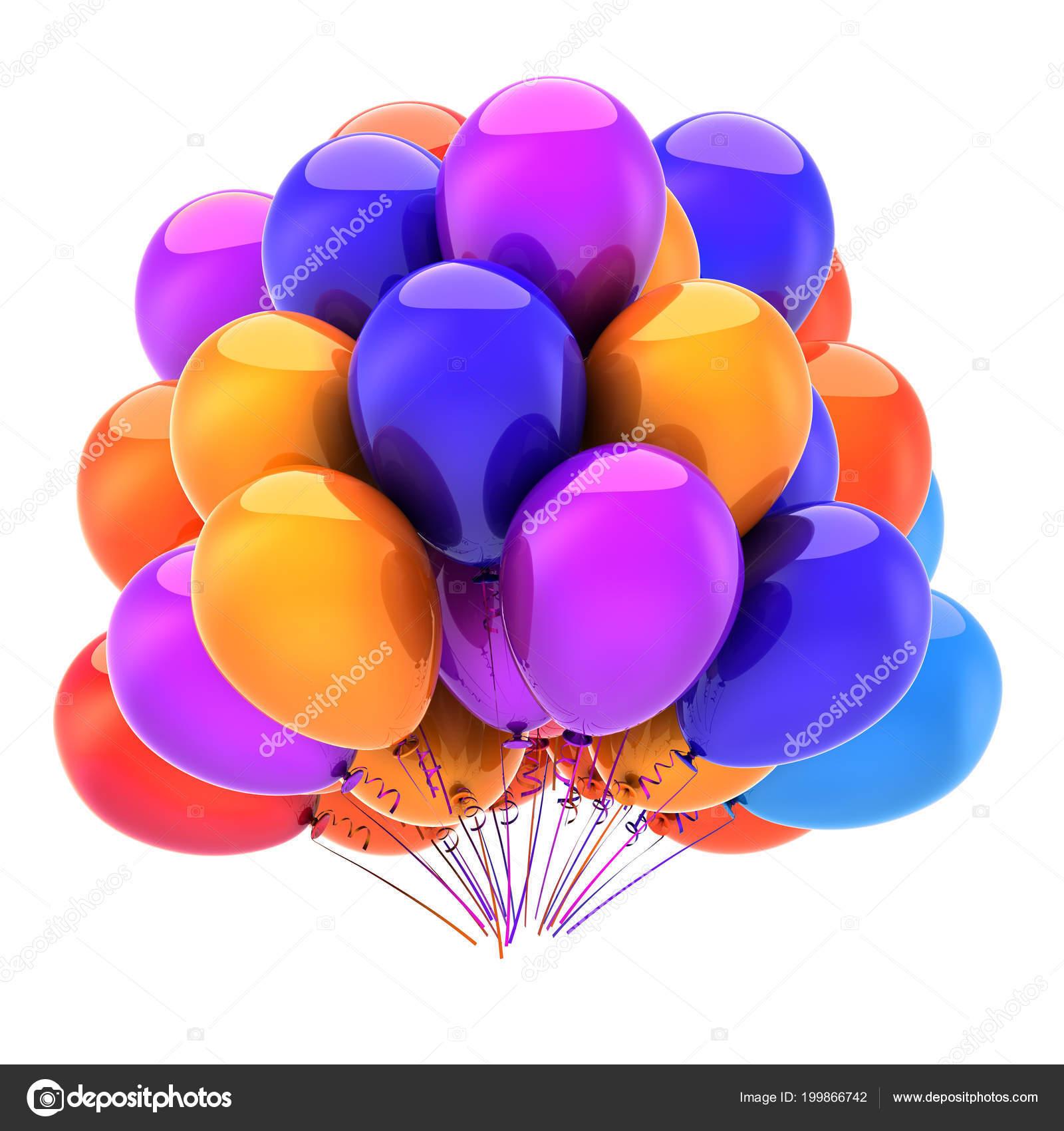 Gelukkige Verjaardag Feestdecoratie Veelkleurige Ballonnen