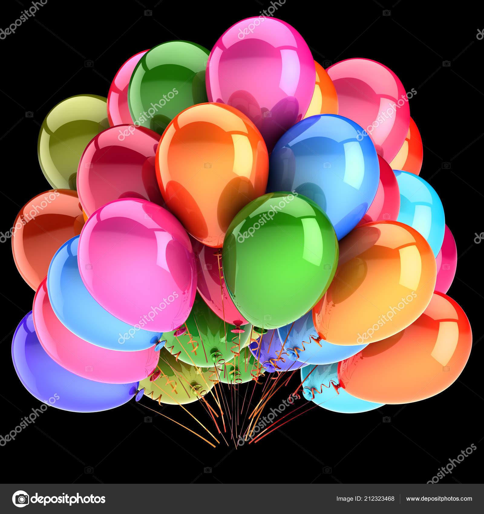 Decoración Globos Cumpleaños Fiesta Multicolor Manojo Globos