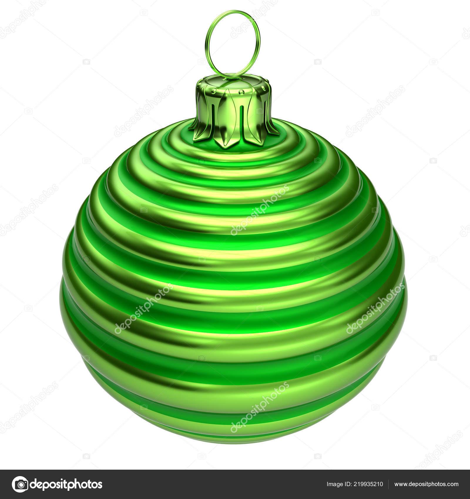 c60471b9623 Navidad bolas de Navidad decoración closeup a rayas verde. Day de año nuevo  Eve colgante Adorno decoración tradicional