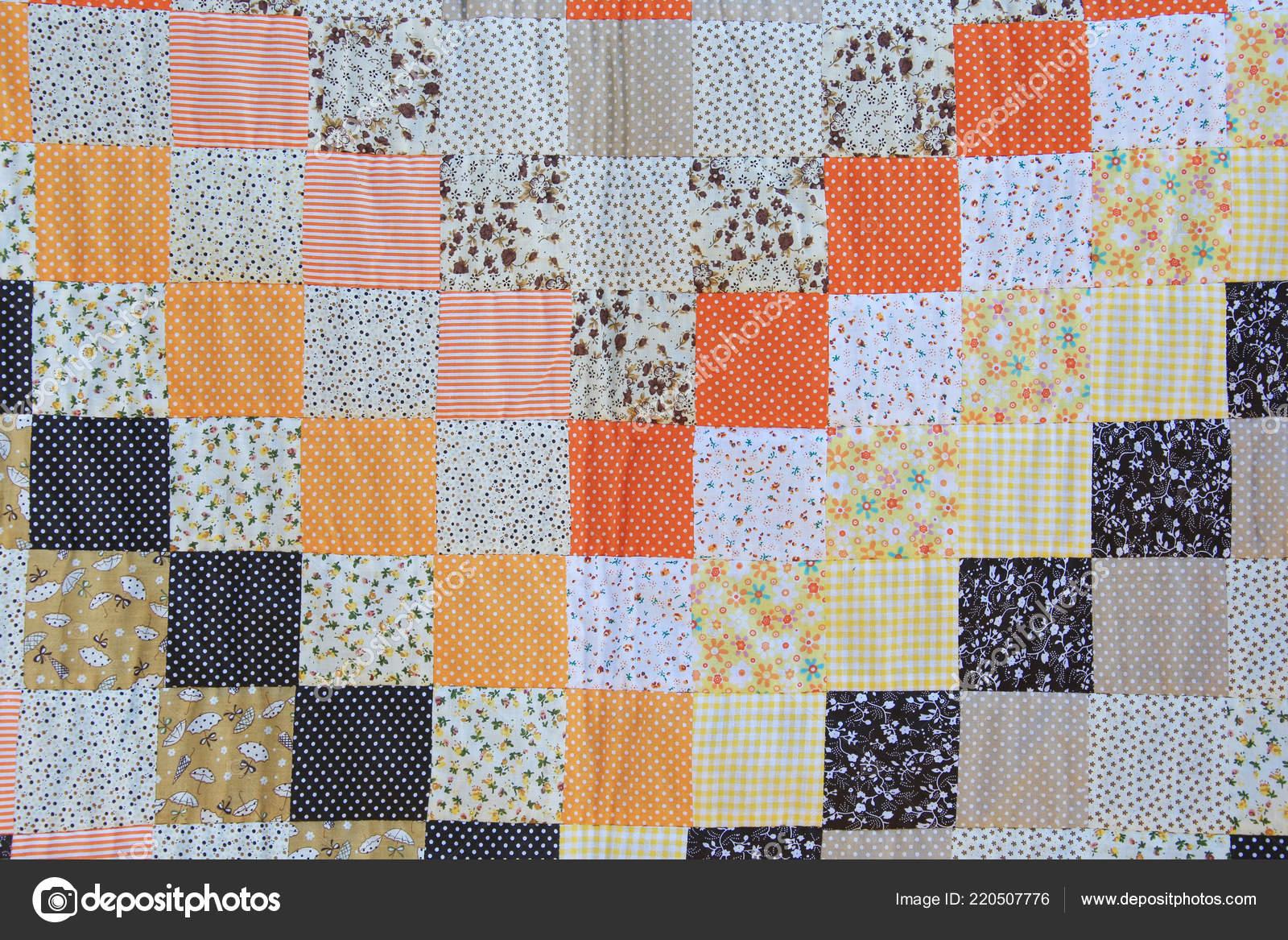 Patchwork sfondo texture macro multicolore pezzi stoffa u foto