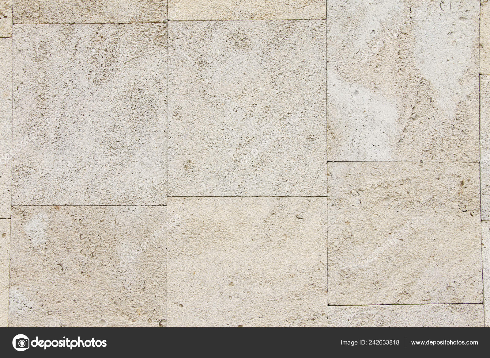 Macro Texture Veneer Limestone Stone Natural Light Stock Photo