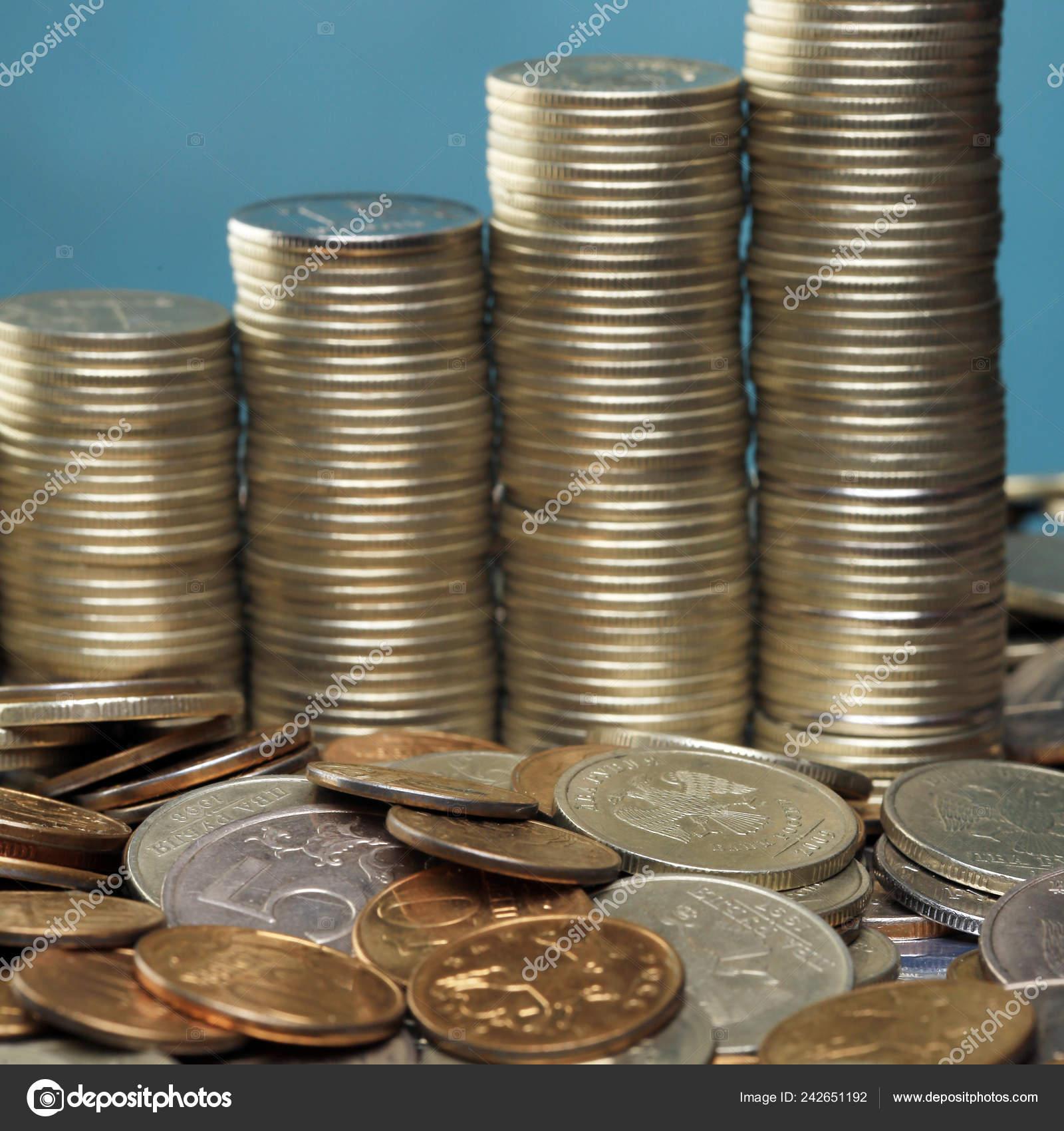 Russian Coins Taken Studio Artificial Light — Stock Photo © salman2