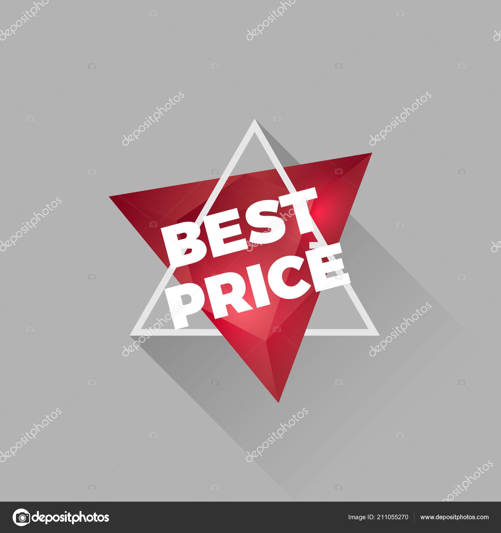 Abstract Crystal Shiny Red Tag Text Best Price — Stock