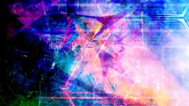 Pretty Rainbow Hues on Shattered Broken Abstract Background - 4K Seamless Loop Motion Background Animation