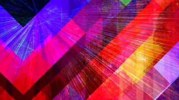 Geometric Rainbow Light Beams Shining Beautiful Diagonal Rays - 4K Seamless Loop Motion Background Animation