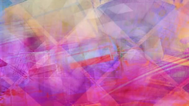 Pastel Pink and Orange Abstract Shifting Geometry - 4K Seamless Loop Motion Background Animation