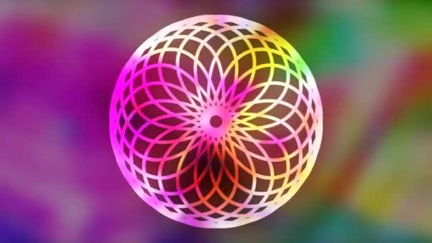 Bright Geometric Rainbow Illusion Pattern Projection - 4K Seamless Loop Motion Background Animation