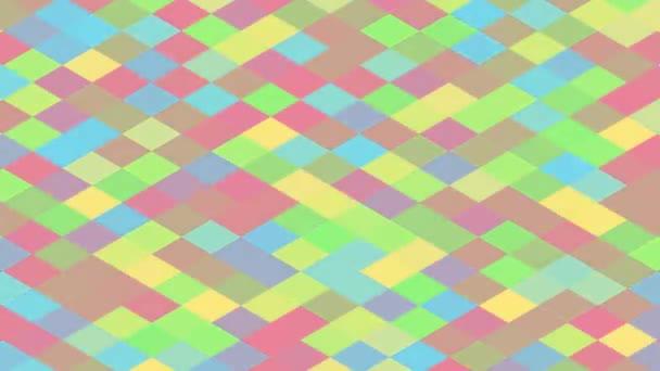 Pulzující jarní velikonoční barva na krásném diamantovém vzoru Design - 4k Bezešvé smyčka pohybu na pozadí animace