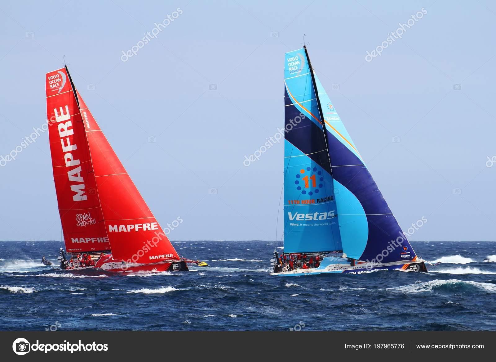 Due squadre open barche vela combattimento momenti dopo start leg foto editoriale stock - Stock uno alicante ...