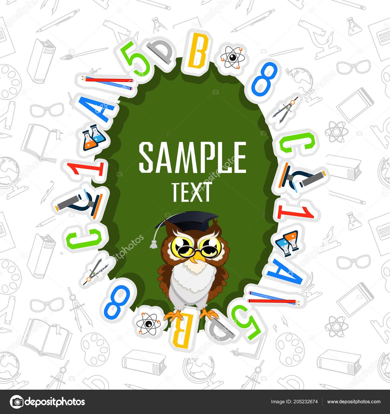Back school color background owl vector invitation template card back school color background owl vector invitation template card vetores de stock stopboris Choice Image