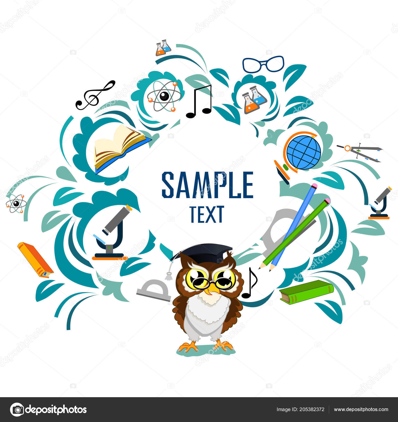 Back school color background owl vector invitation template card back school color background owl vector invitation template card vetores de stock stopboris Images