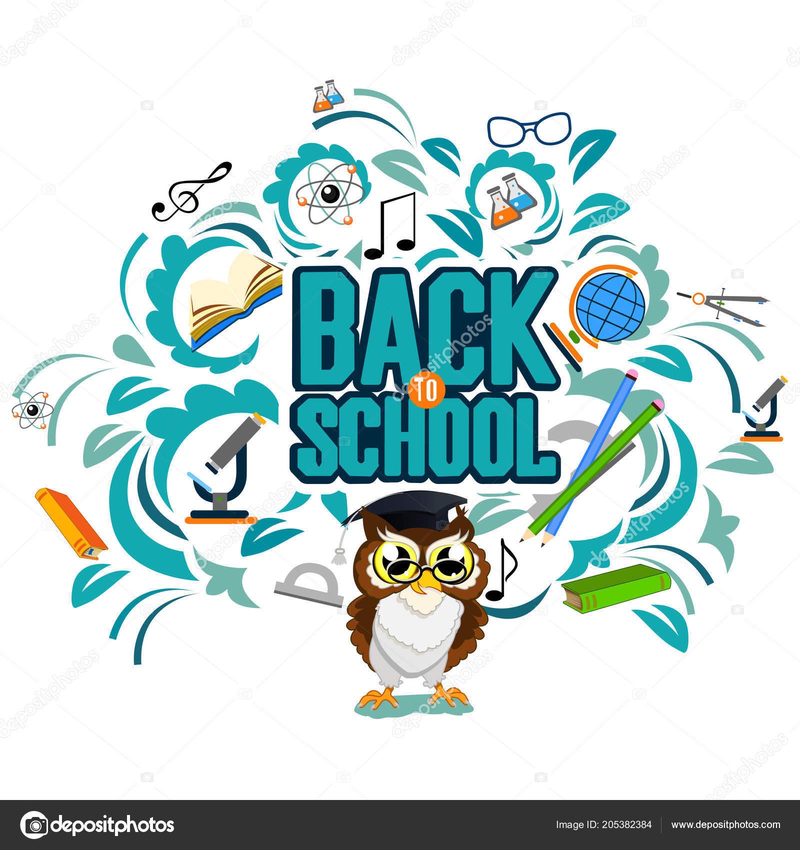 Back school color background owl vector invitation template card back school color background owl vector invitation template card vetor de stock stopboris Images