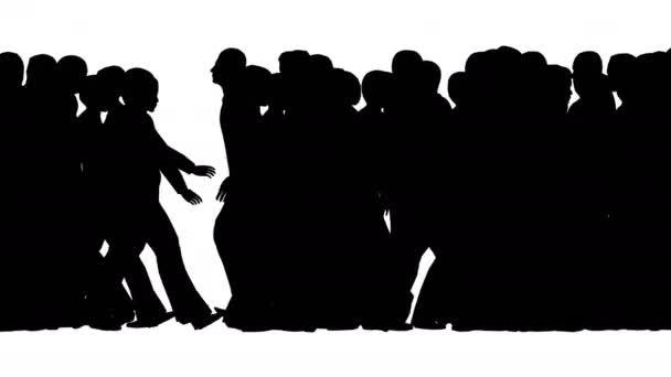 A tömeg az emberek eltérő irányban mozdulnak el