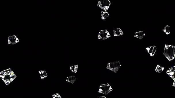 Diamanten auf Schwarz mit Schleife