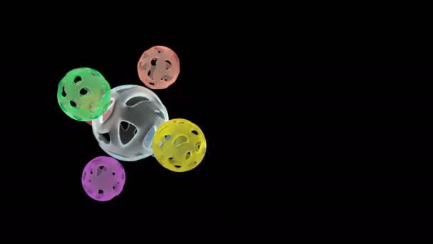 Abstraktní barevné koule schopen opakovat