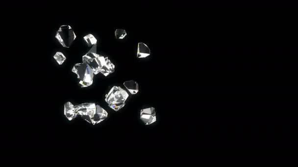 Diamanten schönen Hintergrund. geschlungene 3d