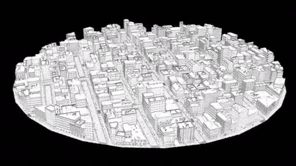 Drátový model bílé město sestavení abstraktní architektonické